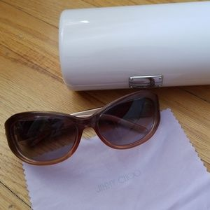 Jimmy Choo Brown Kitty S Sunglasses